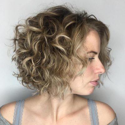 A Curly Long Bob