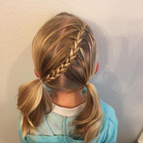 Cute middle braid on short hair