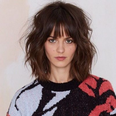 Lob with Fringed Bangs
