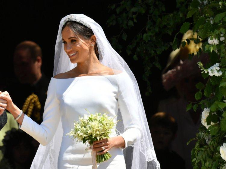 Meghan's veil look