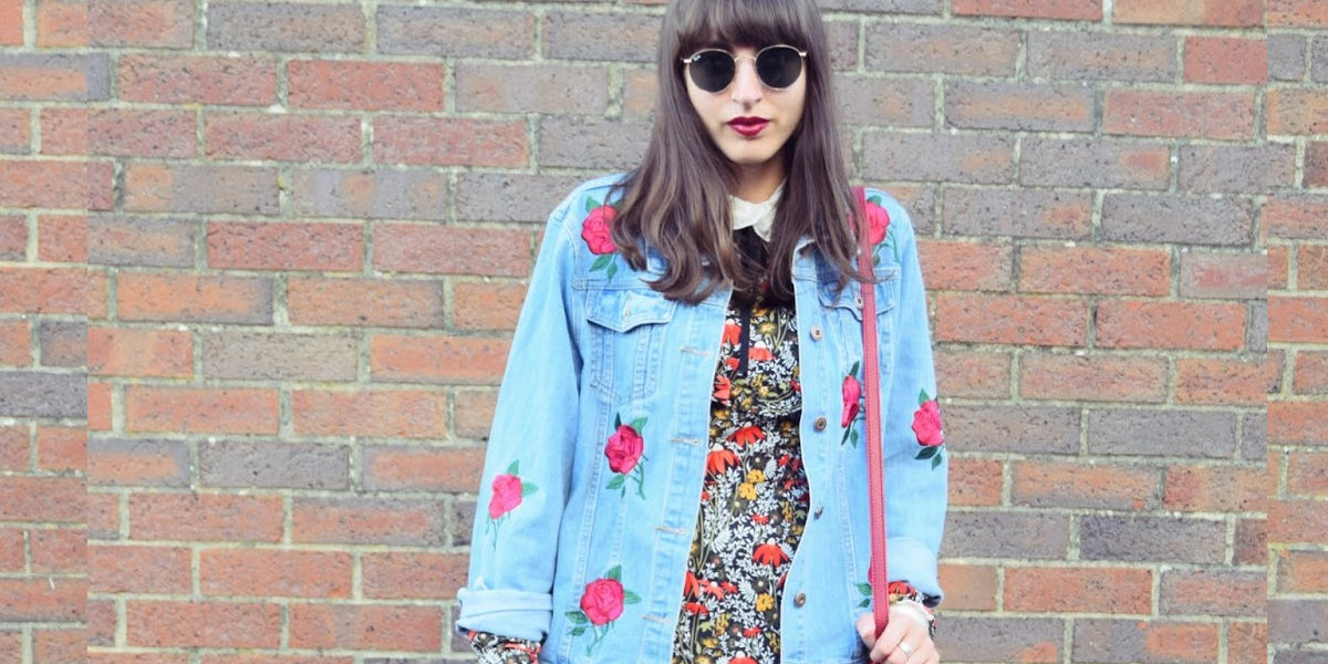 Floral Dress with the Denim Jacket