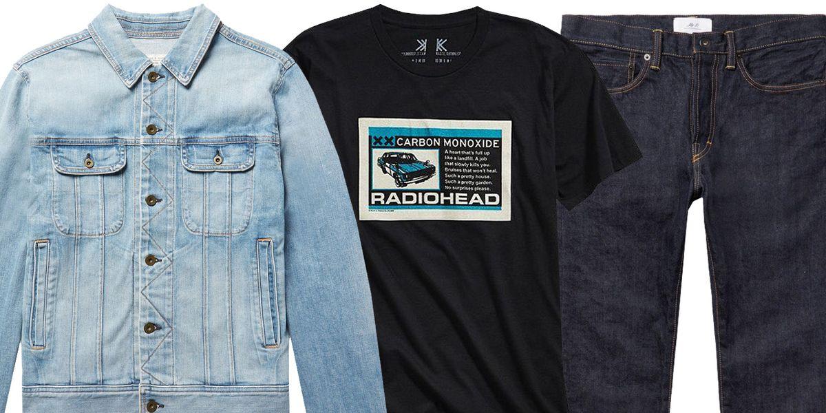 Graphic T-Shirt and Denim Jacket
