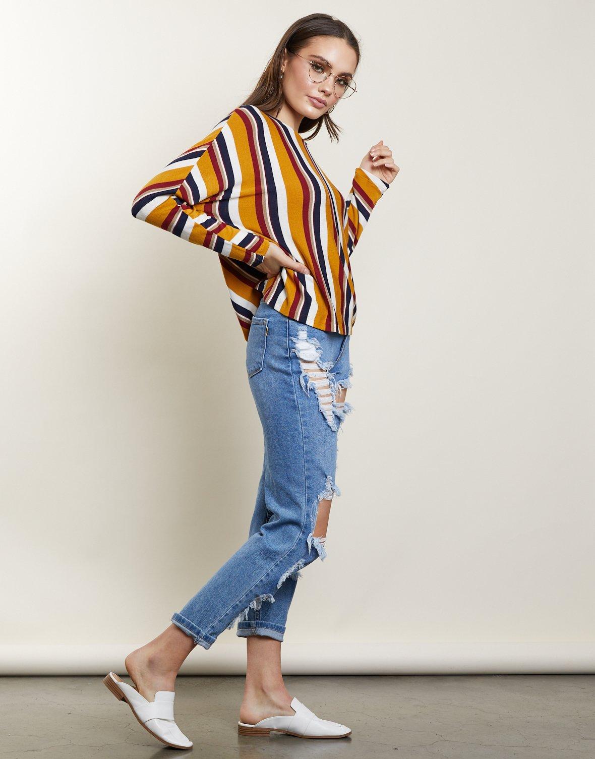 Vertically Striped Shirts