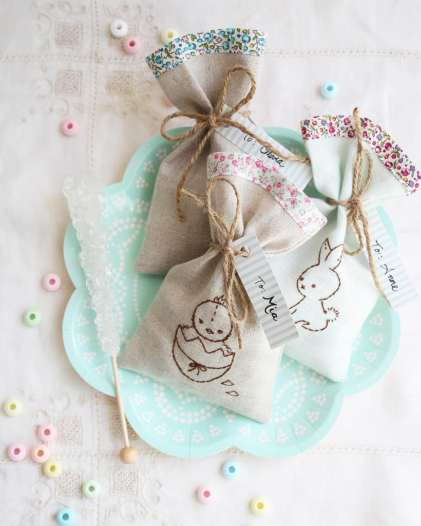 Wee Brown Bunny Treat Bags
